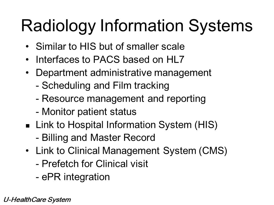 Radiology Information Systems