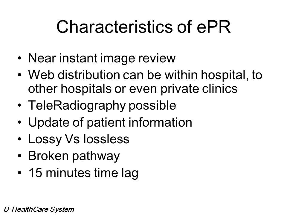Characteristics of ePR