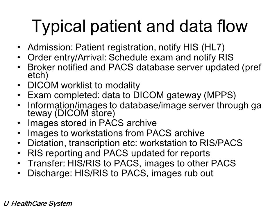 Typical patient and data flow