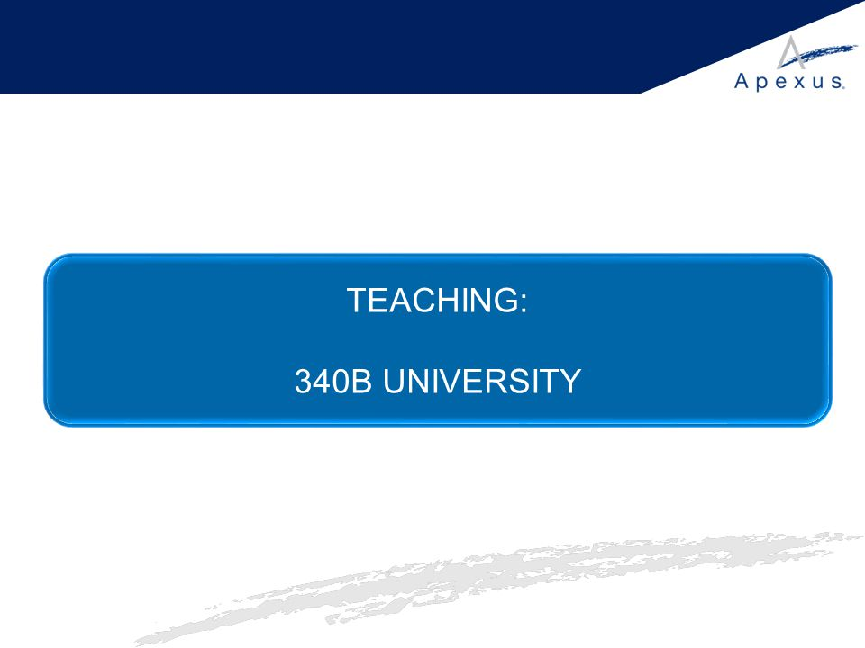 TEACHING: 340B UNIVERSITY