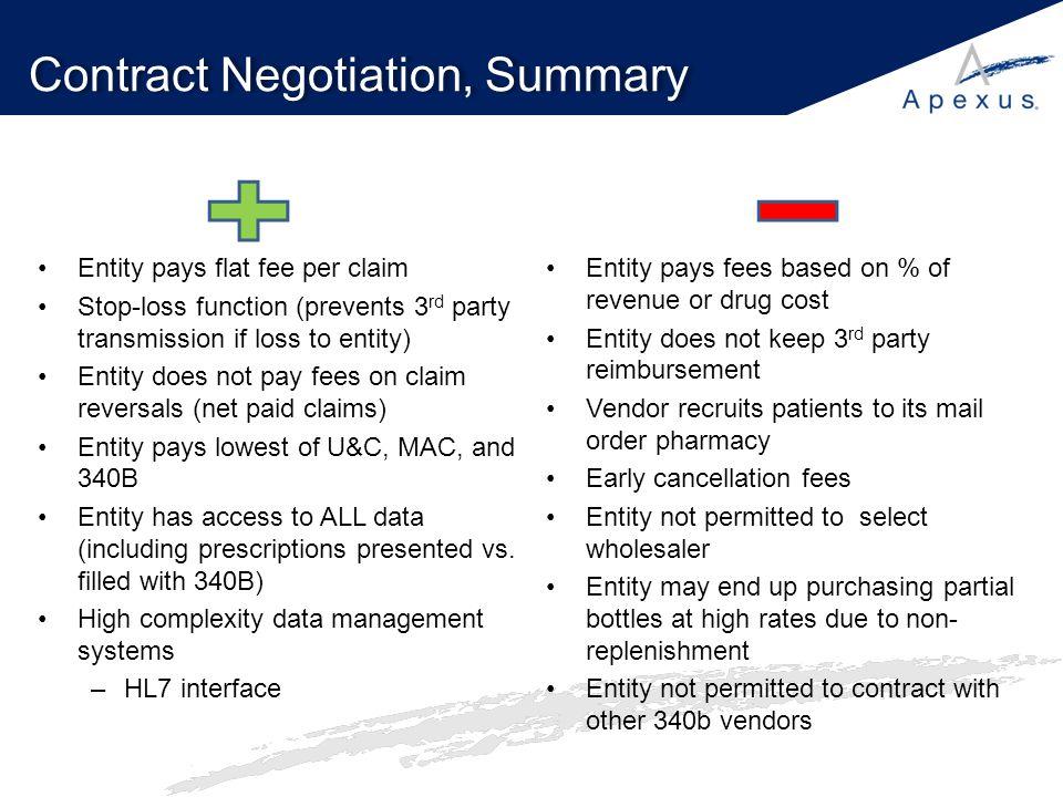 Contract Negotiation, Summary