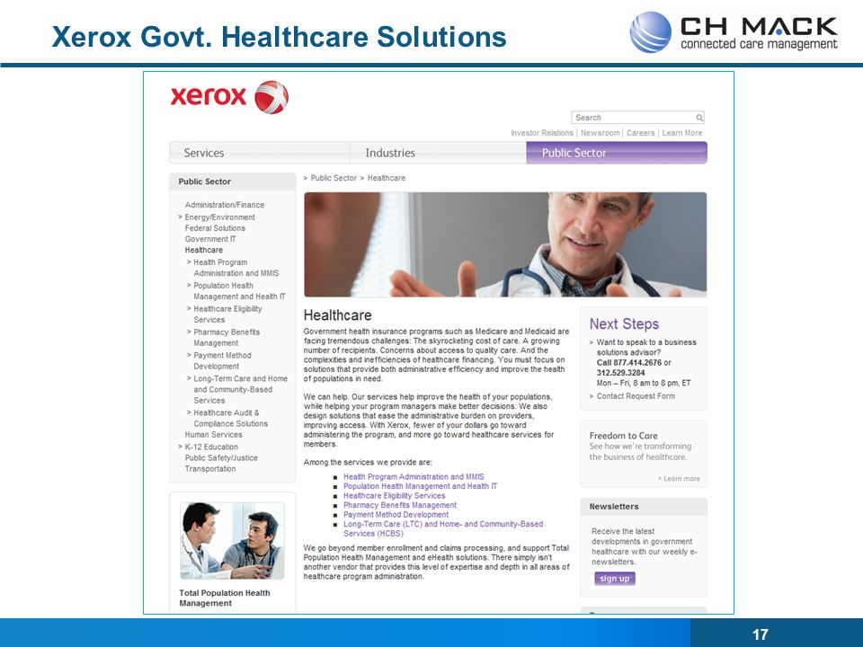 Xerox Govt. Healthcare Solutions