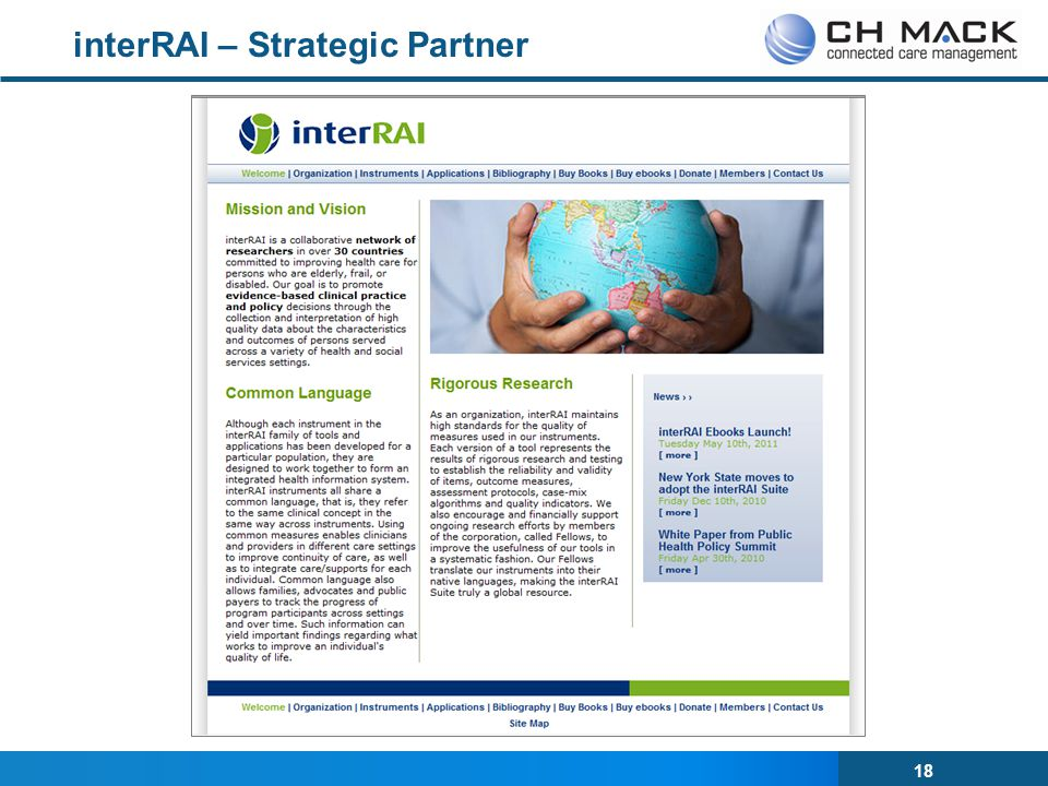 interRAI – Strategic Partner