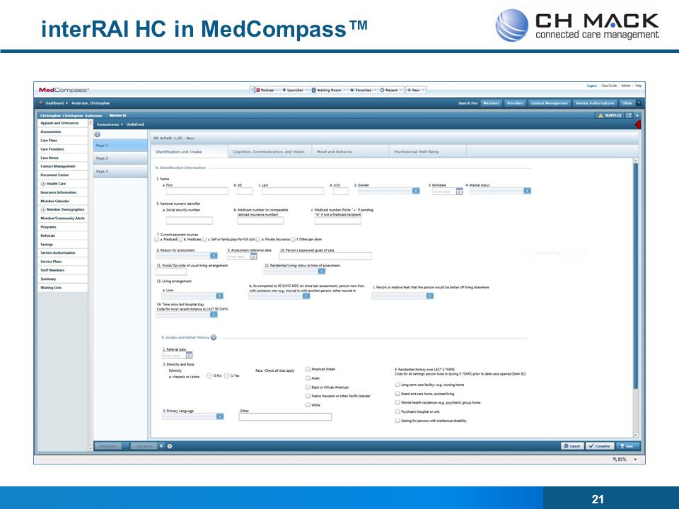 interRAI HC in MedCompass™