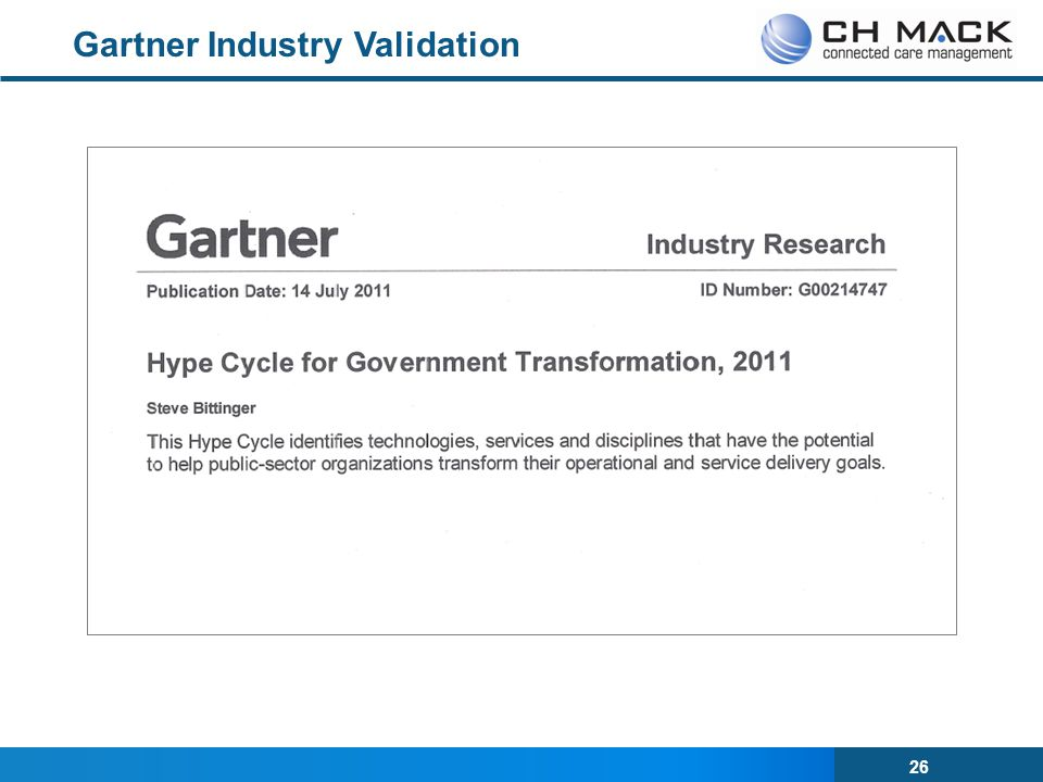 Gartner Industry Validation