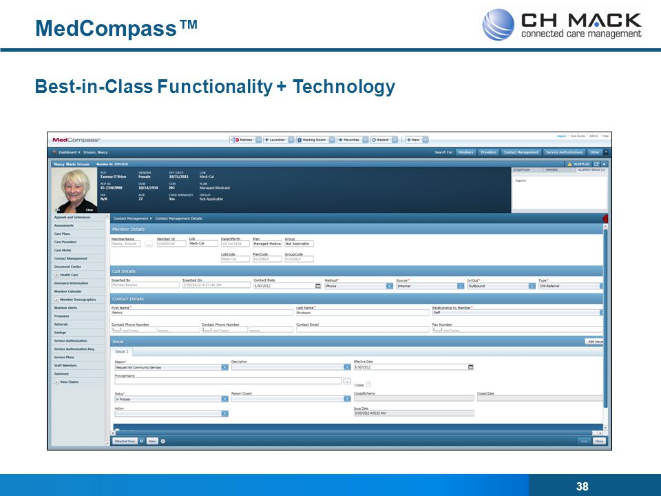 MedCompass™ Best-in-Class Functionality + Technology