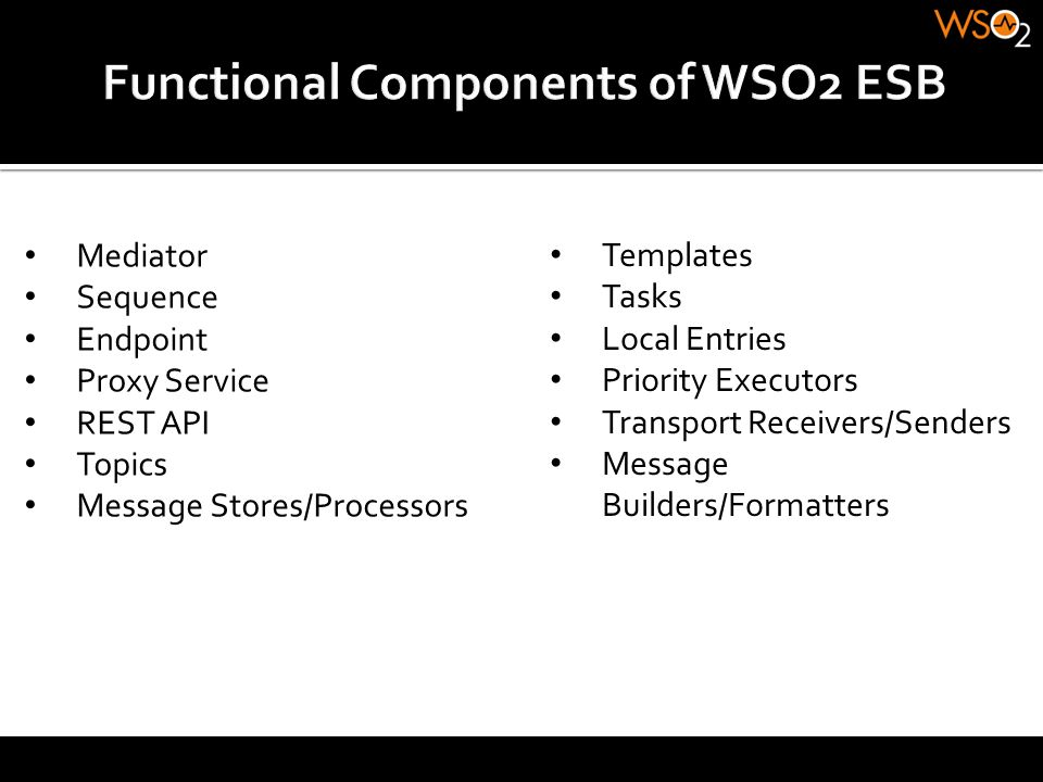 Functional Components of WSO2 ESB
