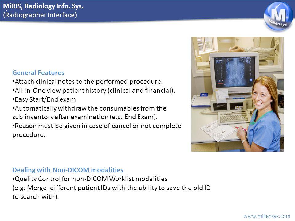 MiRIS, Radiology Info. Sys.