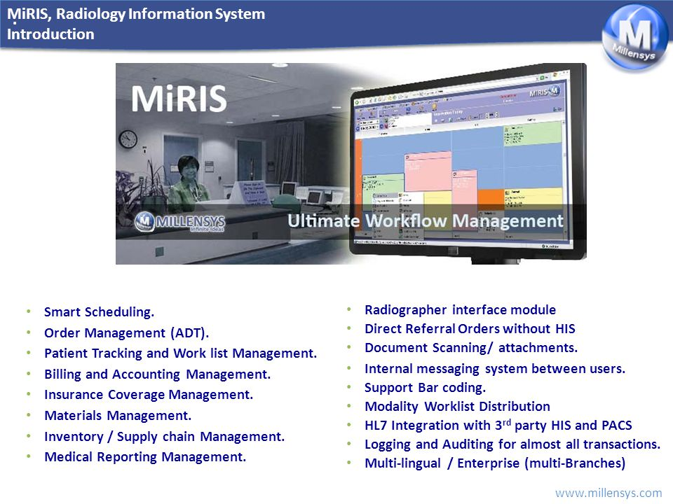 MiRIS, Radiology Information System Introduction
