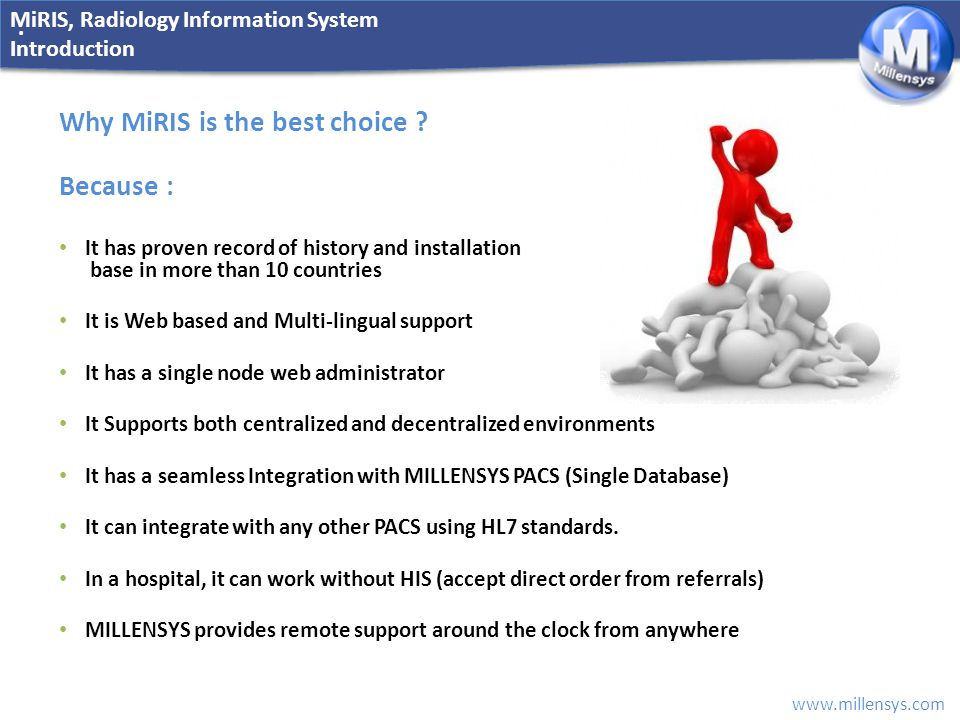 Why MiRIS is the best choice Because :
