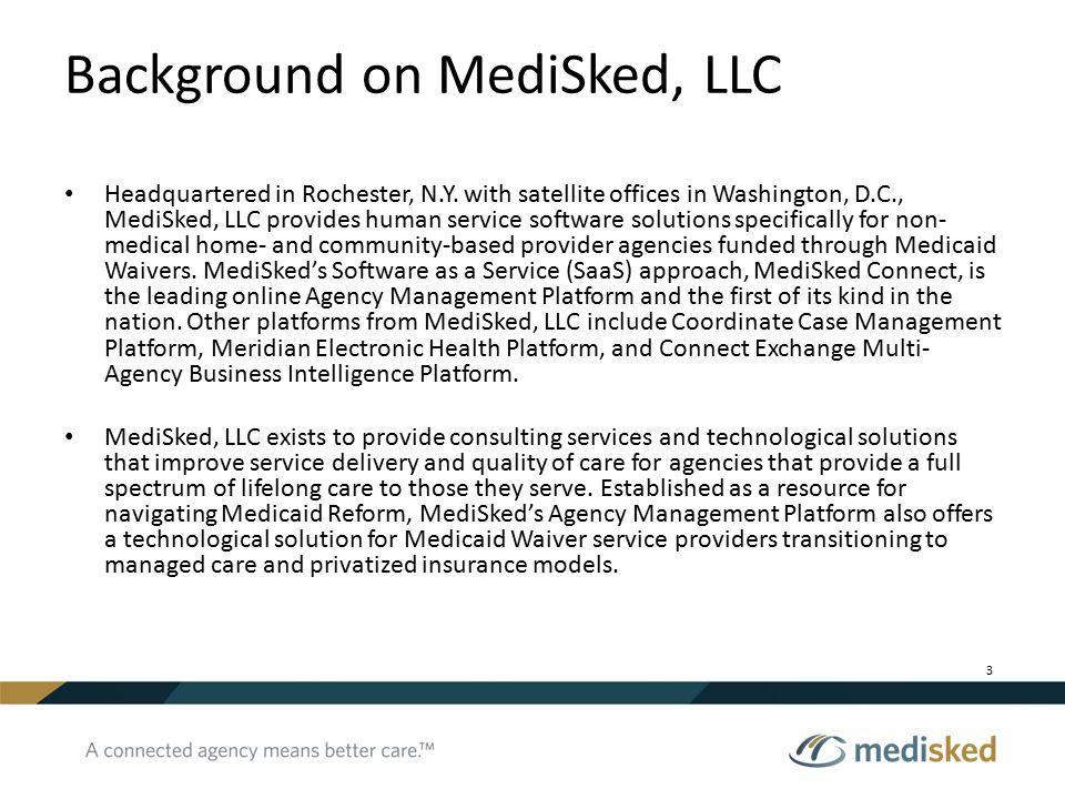 Background on MediSked, LLC