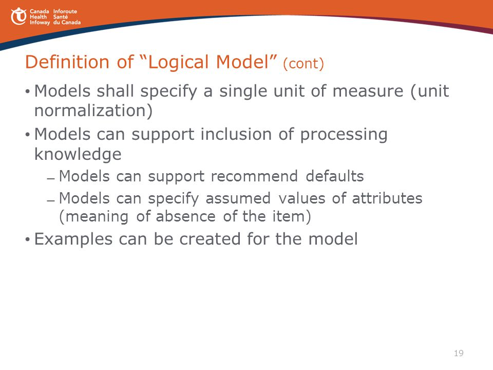 Definition of Logical Model (cont)