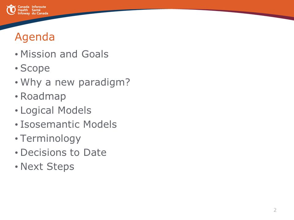 Agenda Mission and Goals Scope Why a new paradigm Roadmap