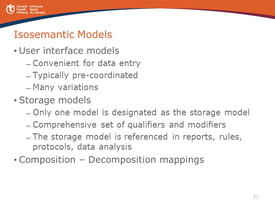 Isosemantic Models User interface models Storage models