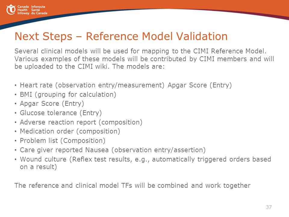 Next Steps – Reference Model Validation