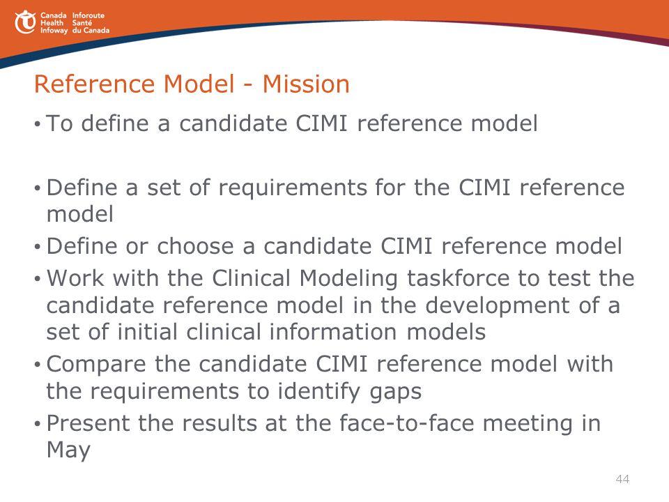 Reference Model - Mission