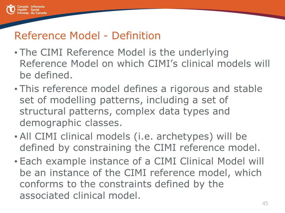 Reference Model - Definition