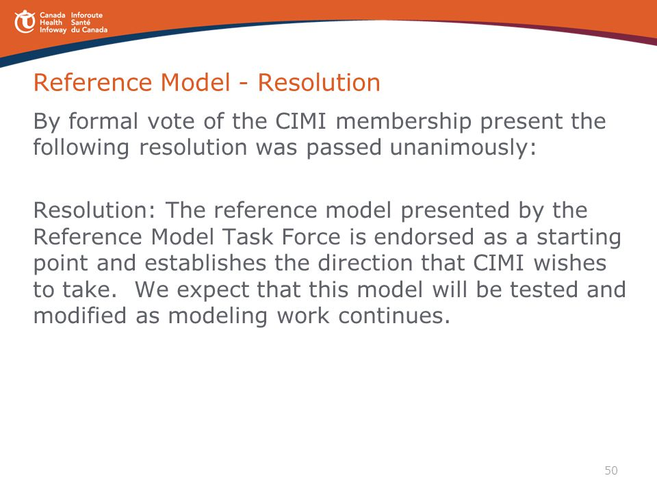 Reference Model - Resolution