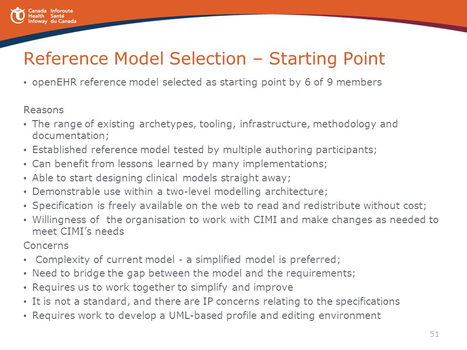 Reference Model Selection – Starting Point