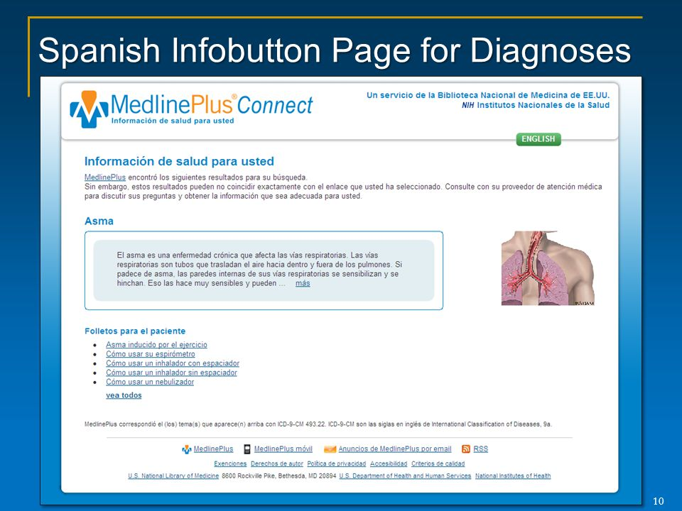 Spanish Infobutton Page for Diagnoses
