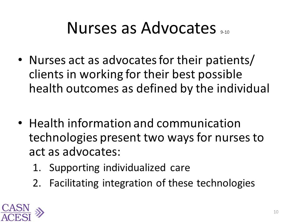 Nurses as Advocates 9-10