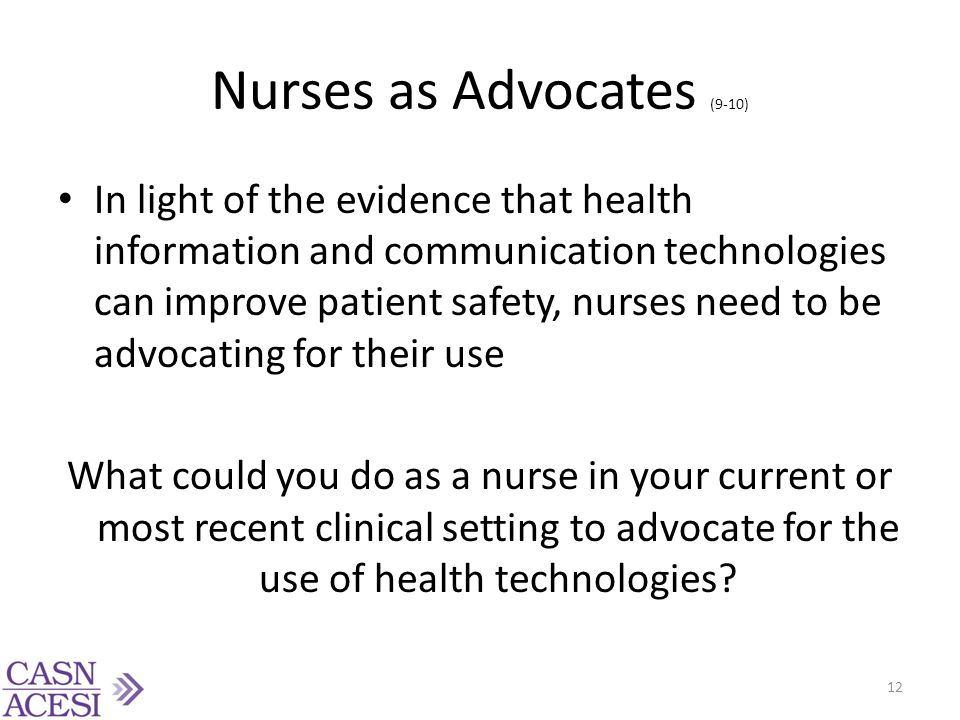 Nurses as Advocates (9-10)