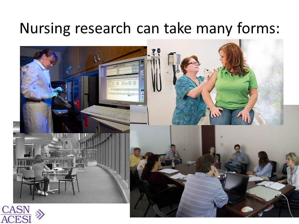 Nursing research can take many forms: