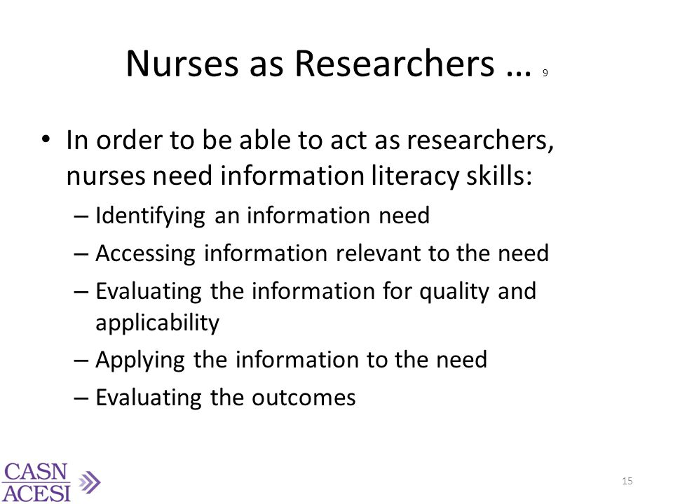 Nurses as Researchers … 9