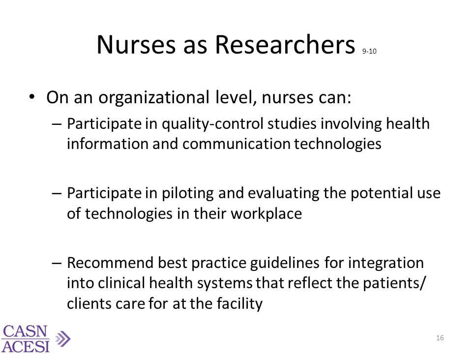 Nurses as Researchers 9-10