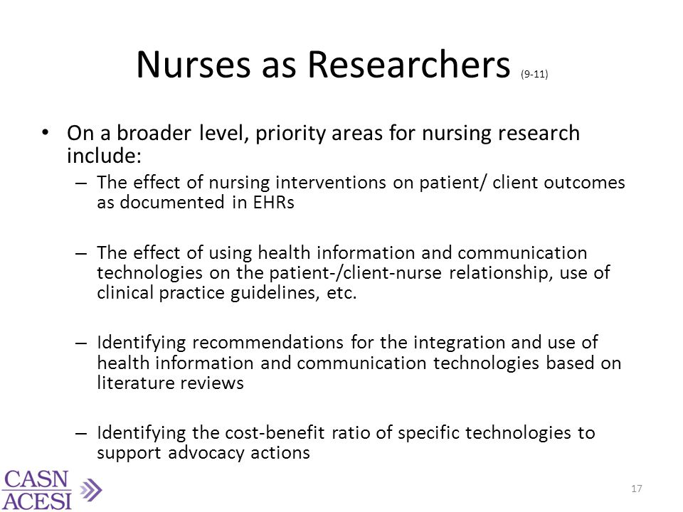 Nurses as Researchers (9-11)