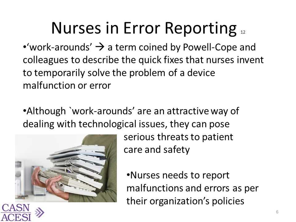 Nurses in Error Reporting 12
