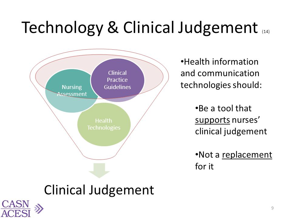 Technology & Clinical Judgement (14)