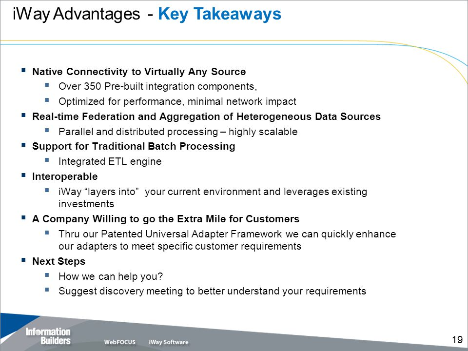 iWay Advantages - Key Takeaways