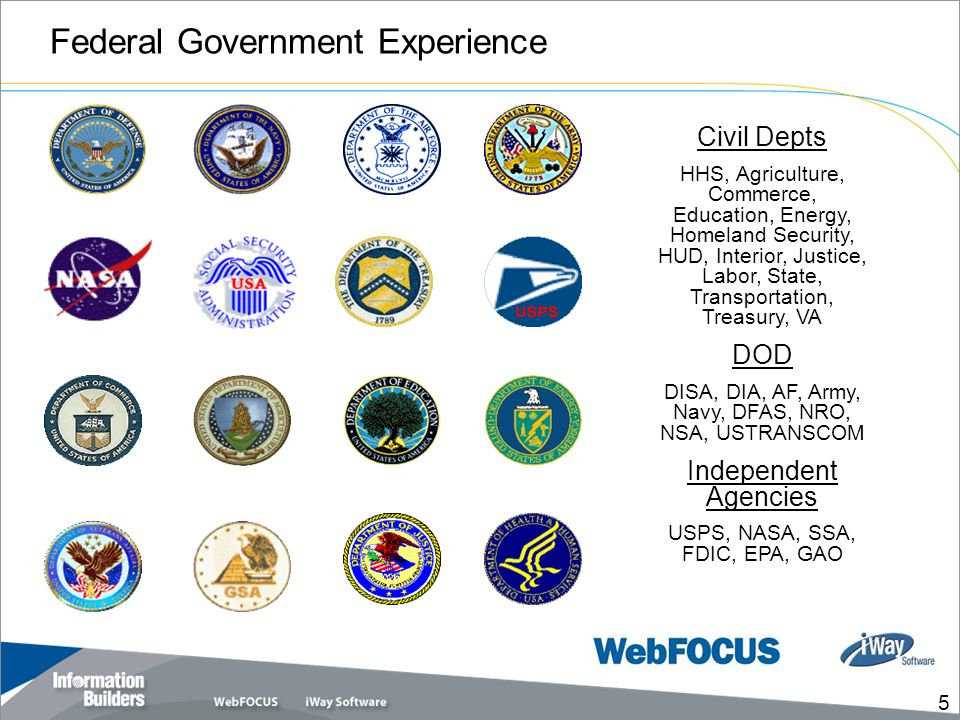 Federal Government Experience