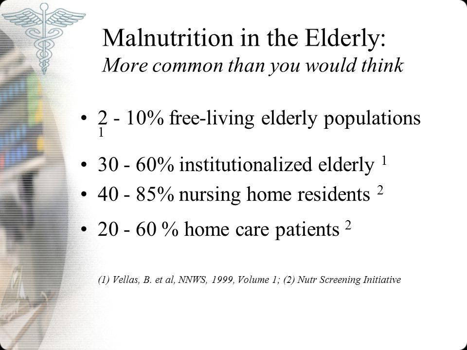 Malnutrition in the Elderly: More common than you would think