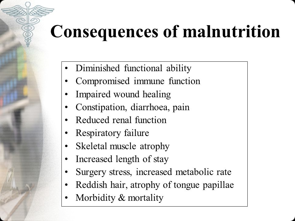 Consequences of malnutrition