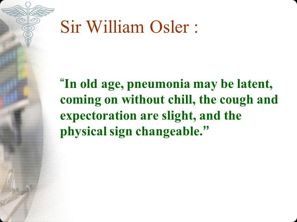 Sir William Osler :
