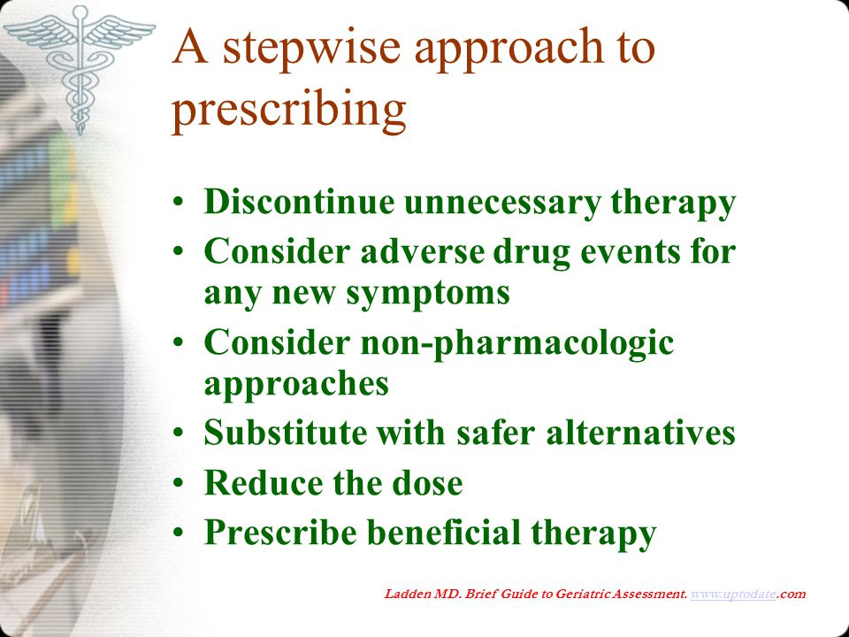 A stepwise approach to prescribing