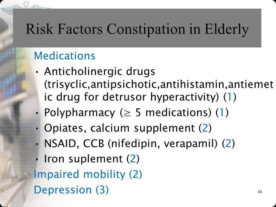 Risk Factors Constipation in Elderly