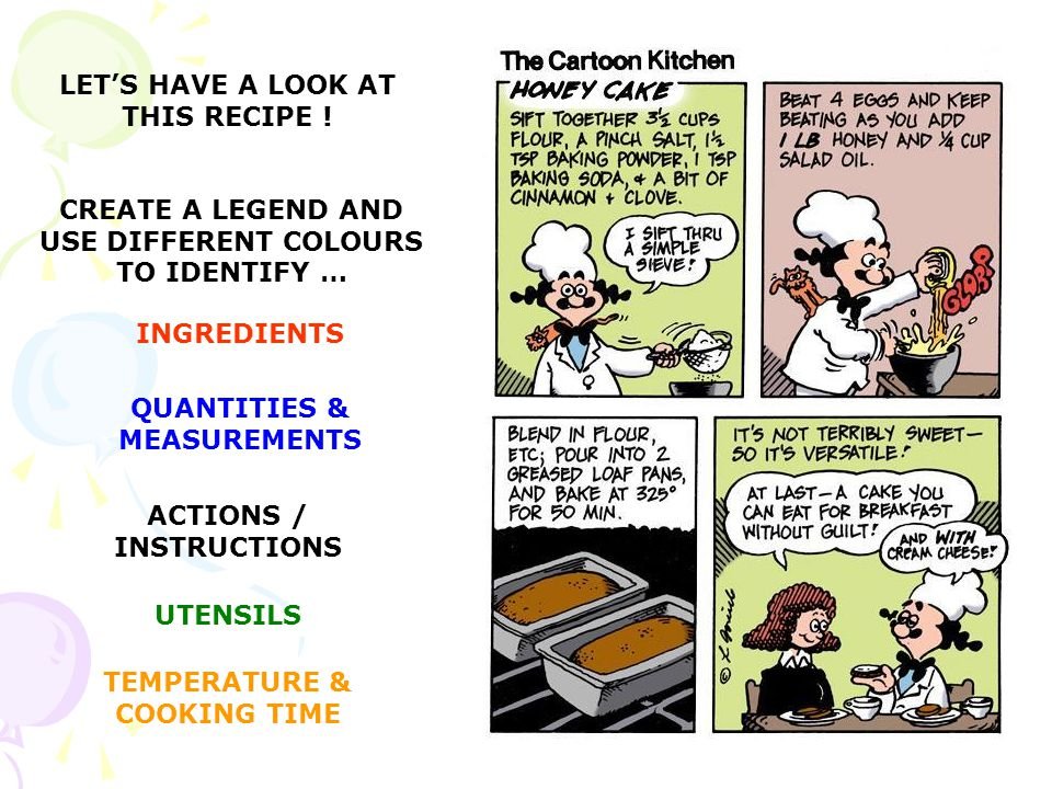 LET'S HAVE A LOOK AT THIS RECIPE !