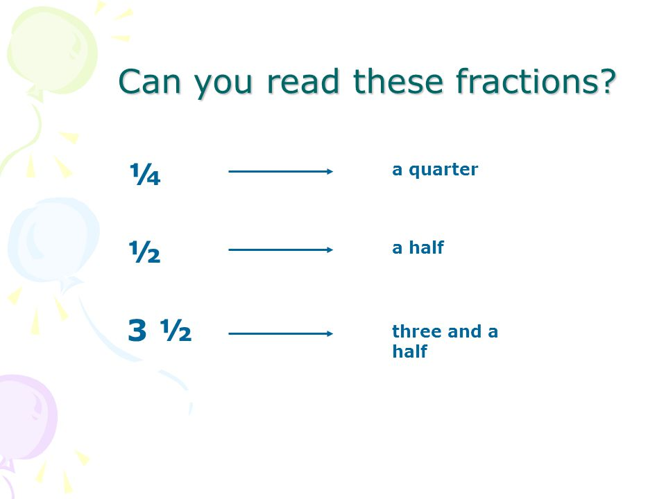 Can you read these fractions