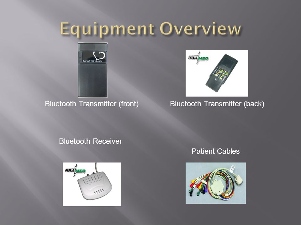 Equipment Overview Bluetooth Transmitter (front)
