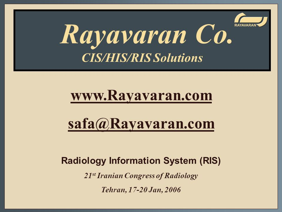 Rayavaran Co. www.Rayavaran.com safa@Rayavaran.com