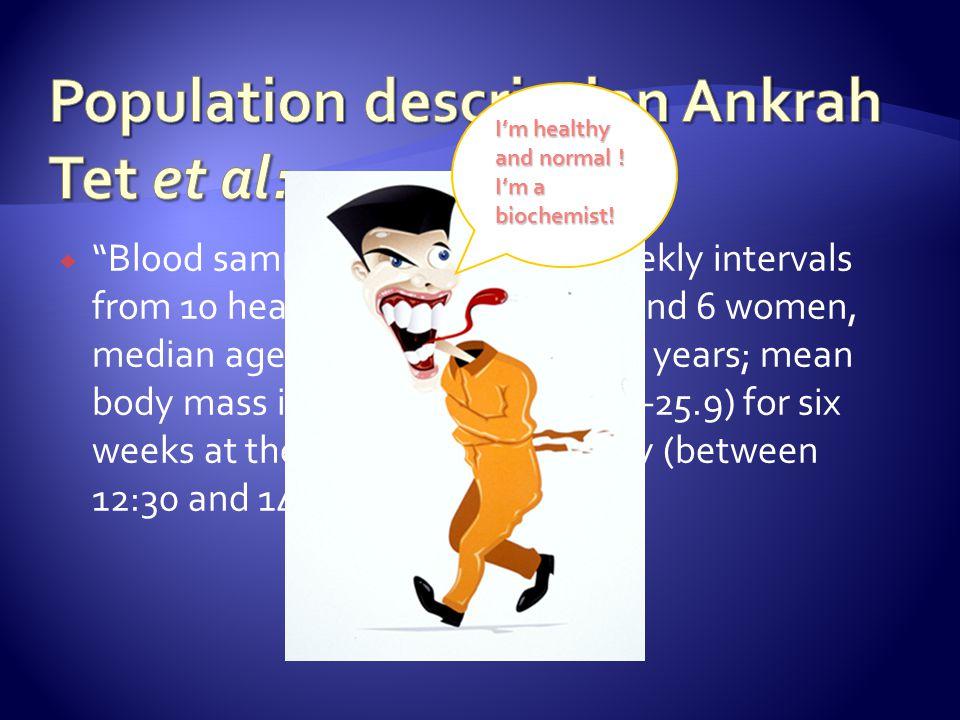 Population description Ankrah Tet et al: