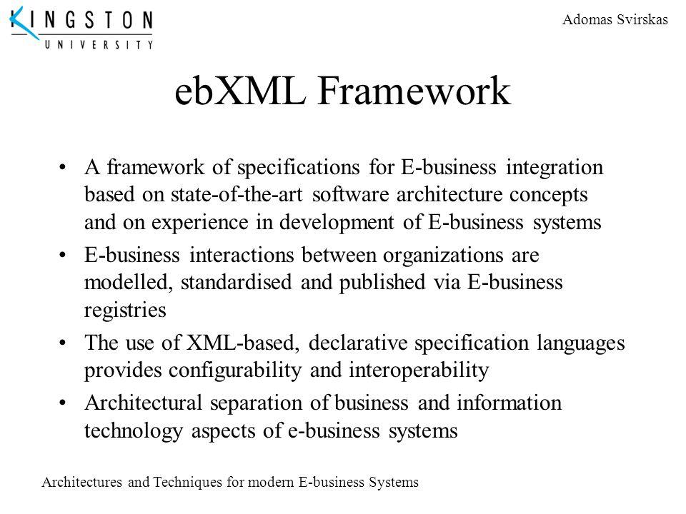 ebXML Framework