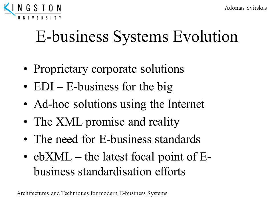 E-business Systems Evolution