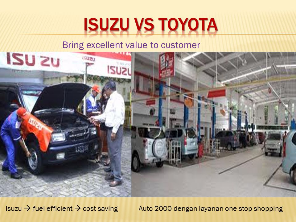 ISUZU vs TOYOTA Bring excellent value to customer