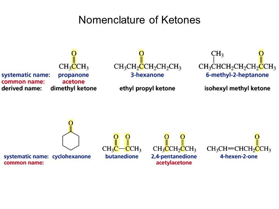 Nomenclature of Ketones