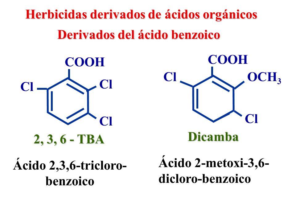 Herbicidas derivados de ácidos orgánicos