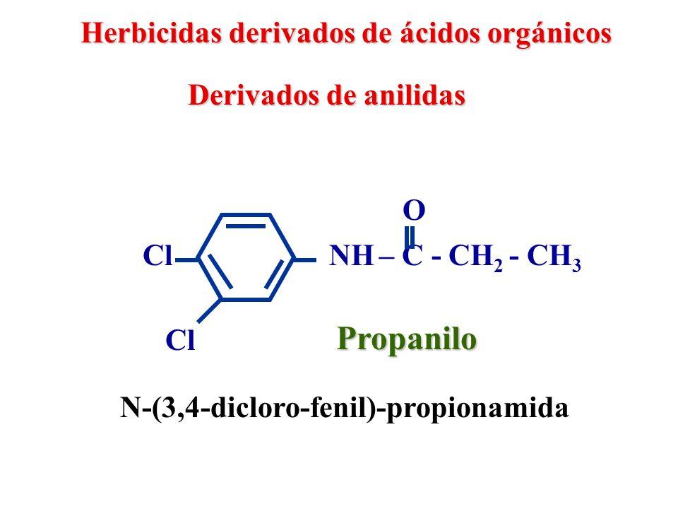 Propanilo Herbicidas derivados de ácidos orgánicos